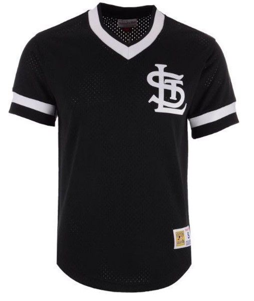 Picture of St. Louis Cardinals 1989 Mitchell & Ness MLB Men's Mesh V-Neck Jersey