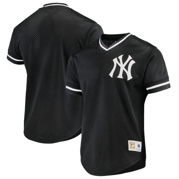 Picture of MITCHELL AND NESS 89' New York Yankees Mesh V-Neck Top