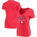 Picture of Women's St. Louis Cardinals Majestic Red Authentic Team Drive T-Shirt