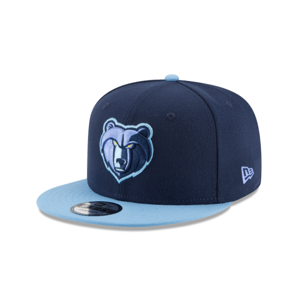 Picture of Memphis Grizzlies New Era 2-Tone Original Fit 9FIFTY Adjustable Snapback Hat - Navy/Light Blue