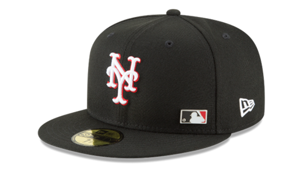 Picture of New York Mets New Era Pinned Up League 59FIFTY Fitted Hat – Black