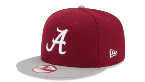 Picture of NCAA Alabama Crimson Tide 2 Tone Crimson Flatbill Snapback