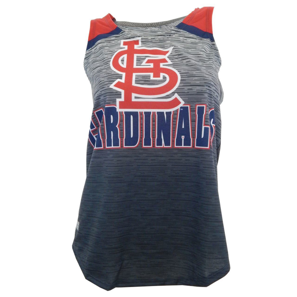 Picture of St. Louis Cardinals  Women's Flyaway Tank Top - Heathered Charcoal