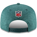 Picture of Men's Philadelphia Eagles New Era Midnight Green/Heather Gray 2018 NFL Sideline Road Official 9FIFTY Snapback Adjustable Hat
