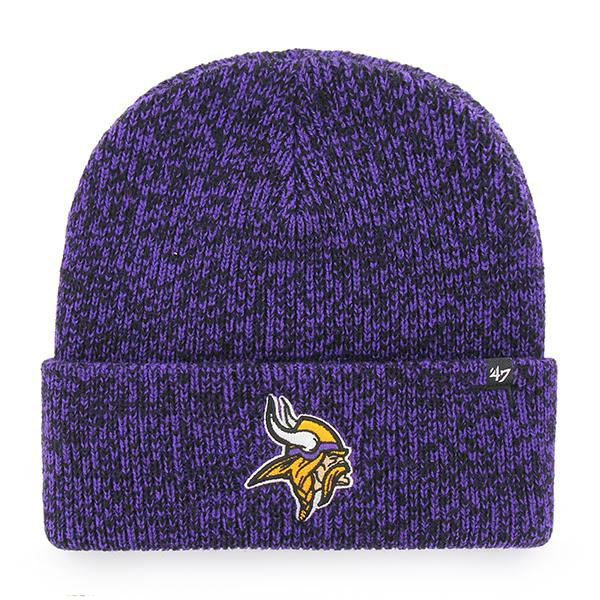 Picture of Minnesota Vikings 47 Brand Brain Freeze Knit Hat in Purple