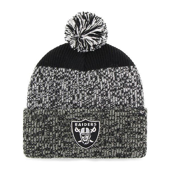 Picture of Oakland Raiders 47 Brand Static Cuff Knit Hat in Black