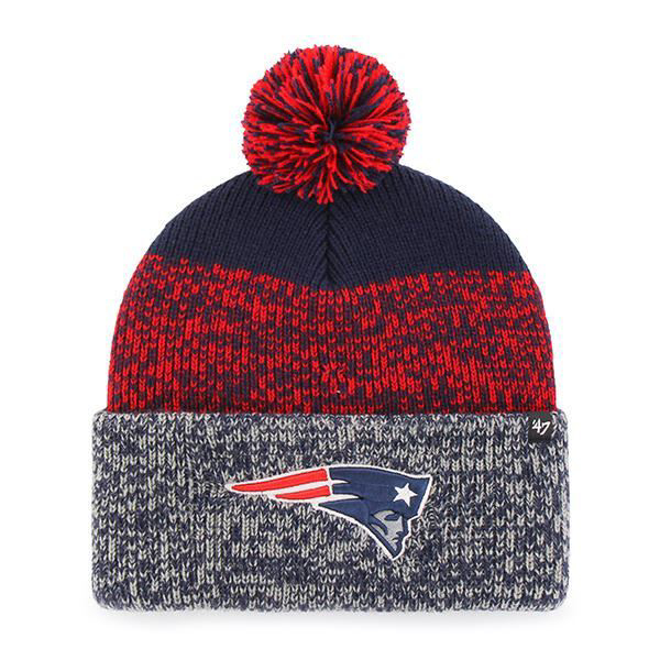 Picture of New England Patriots 47 Brand Static Cuff Knit Hat in Blue/Red