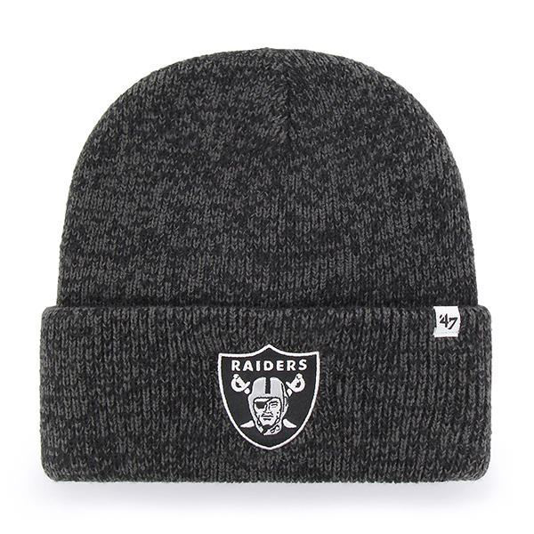 Picture of Oakland Raiders 47 Brand Brain Freeze Knit Hat in Black