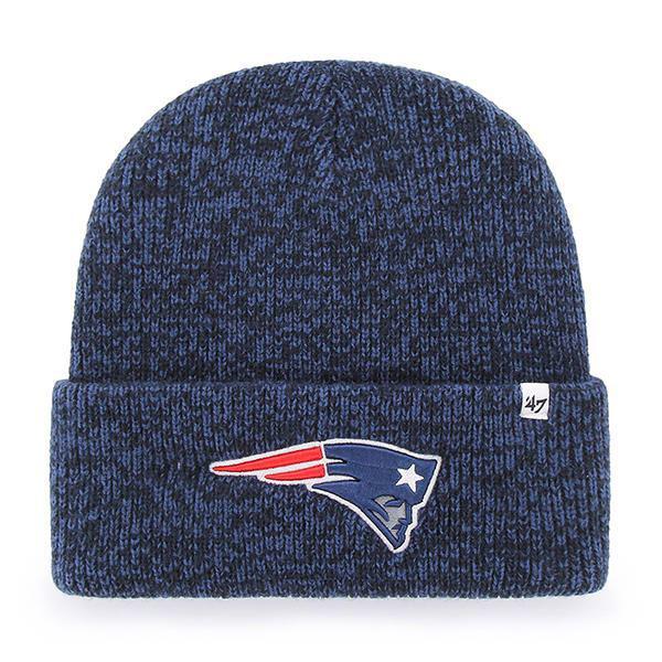2bbd046b0 New England Patriots 47 Brand Brain Freeze Knit Hat in Blue