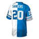 Picture of Men's Detroit Lions Barry Sanders Mitchell & Ness Blue/White Retired Player Split Replica Jersey