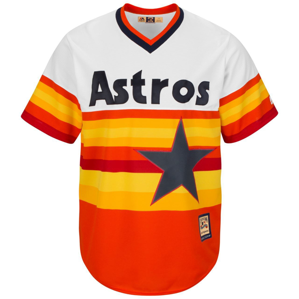 Picture of Men's Houston Astros Majestic Orange Alternate Cooperstown Cool Base Team Jersey