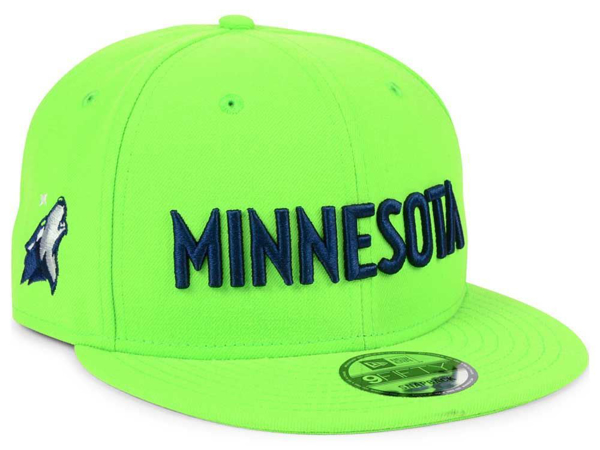 Picture of Minnesota Timberwolves New Era NBA Statement Jersey Hook 9FIFTY Snapback Cap Green