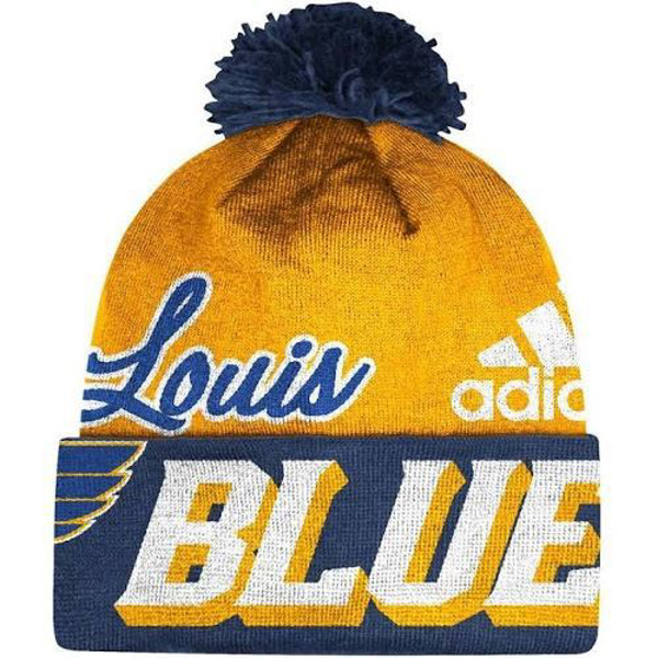 Picture of Saint Louis Blues ST Beanie Adidas NHL Cuffed Pom Knit