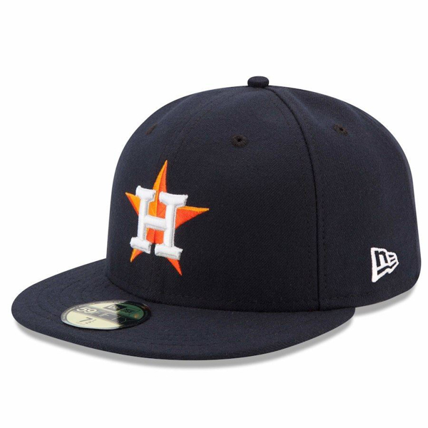 Picture of Houston Astros New Era Home Authentic Collection On Field 59FIFTY Performance Fitted Hat - Navy