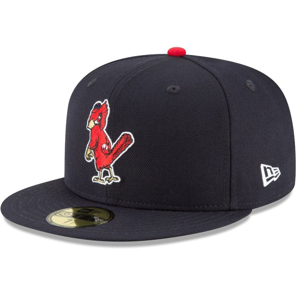 Picture of Men's St. Louis Cardinals New Era Navy Cooperstown Collection Wool 59FIFTY Fitted Hat