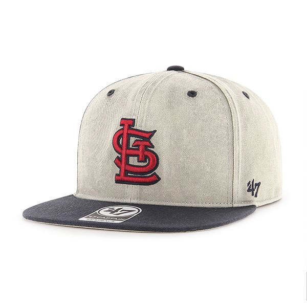 99fa74624f5 Picture of Men s St. Louis Cardinals  47 Grey Cement Sure Shot Snapback  Adjustable Hat