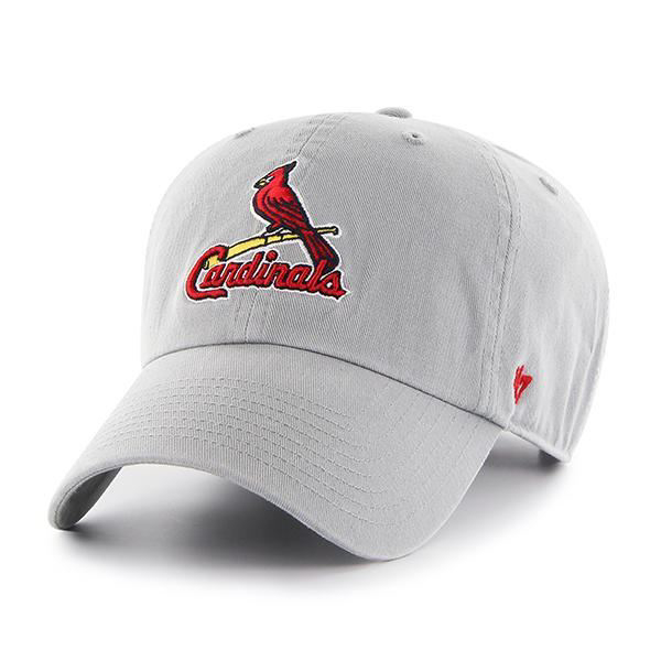 Picture of St. Louis Cardinals 47 Brand Grey Storm Clean Up Adjustable Hat