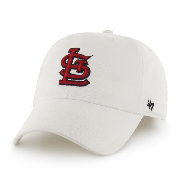 Picture of '47 Brand White with Red St. Louis Cardinals Clean Up Cap