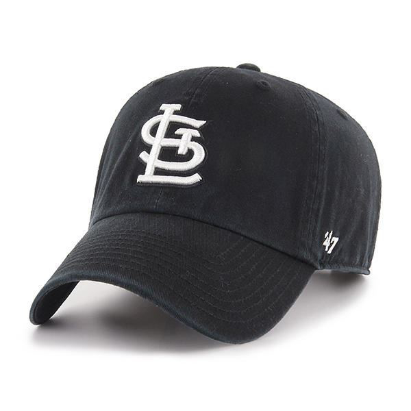006c21578b4cc Picture of  47 Brand Black with White St. Louis Cardinals Clean Up Cap.
