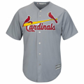 Picture of St. Louis Cardinals Road Majestic Cool Base Player Jersey - Gray