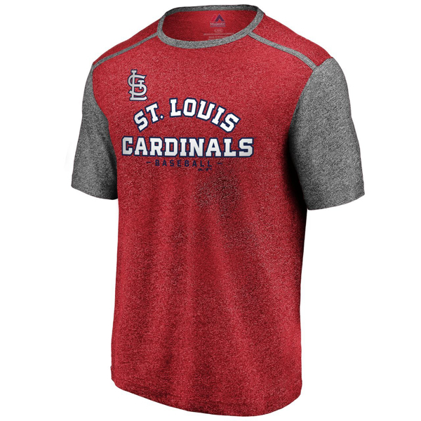 Picture of St. Louis Cardinals Fanatics Branded Aim for the Sky Raglan T-Shirt – Red