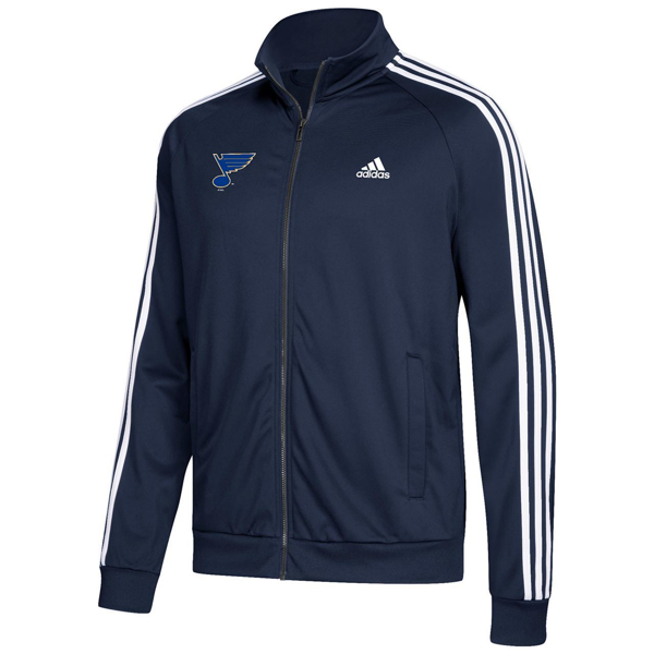Picture of St. Louis Blues adidas Men's Essential Tricot Track Jacket - Navy