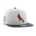 Picture of Men's St. Louis Cardinals '47 Grey/Black Script Sure Shot Snapback Adjustable Hat