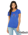 Picture of St. Louis Blues Arch Flag Crystal Bella Tee Shirt