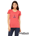Picture of St. Louis Cardinals Rhinestone Arch Flag Bella Tee shirt