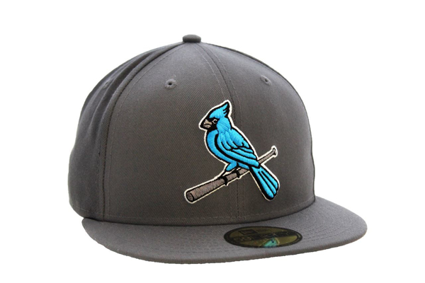 Picture of St. Louis Cardinals Verse Blue Jays Custom 5950 Hat by New Era (Grey/Blue)