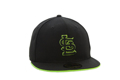 Picture of St. Louis Cardinals New Era Lime Green STL 5950 Fitted Hat Black/Green