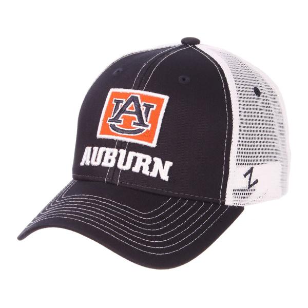 "Picture of Auburn University Stamp ""AU"" Auburn Adjustable Hat"