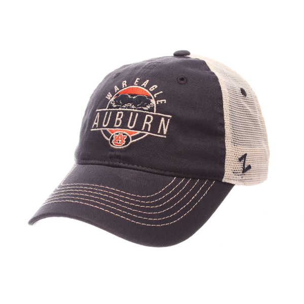 "Picture of Auburn Tigers Zephyr ""Memorial"" Toomer's Corner War Eagle Logo Mesh Adj. Hat Cap"