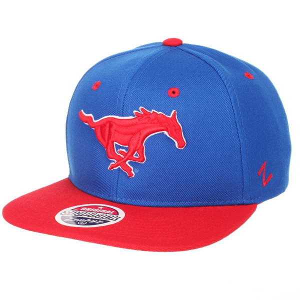 "Picture of South Methodist ""Mustang"" University Snapback Hat by Zephyr"