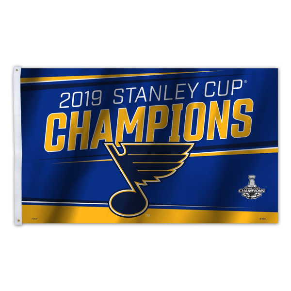 Picture of St. Louis Blues Freemont Die 2019 Stanley Cup Final Champions Series Imported Flag 3x5