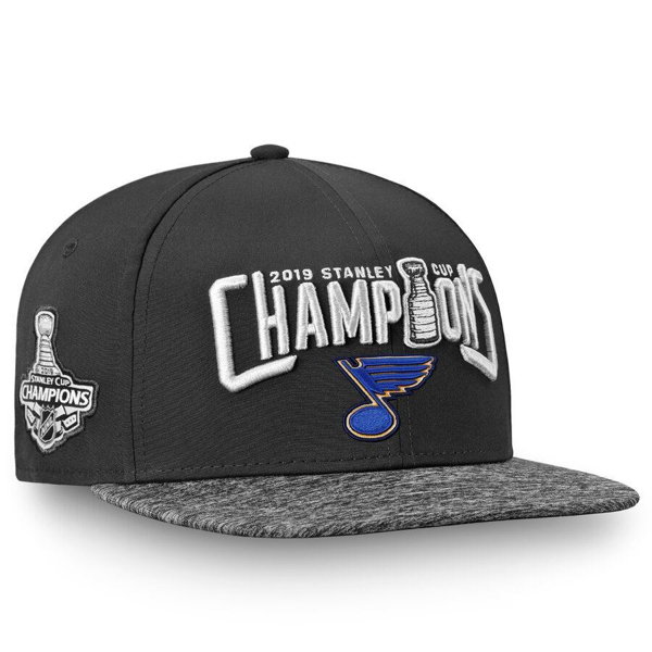 Picture of St. Louis Blues Fanatics Branded 2019 Stanley Cup Champions Snapback Adjustable Hat - Black