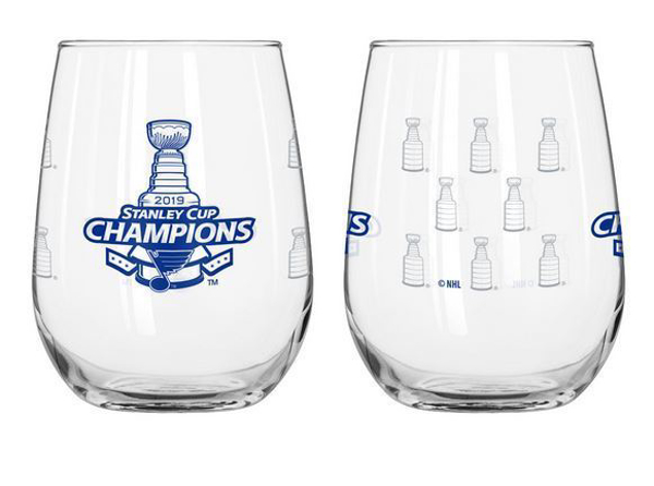 Picture of St. Louis Blues Boelter 2019 Stanley Cup Final Champions 16 oz. Curved Beverage Glass
