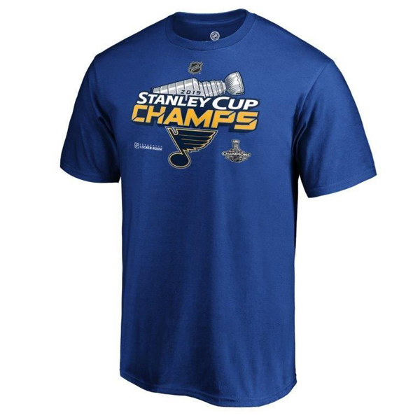 Picture of St. Louis Blues Fanatics Branded 2019 Stanley Cup Champions Locker Room T-Shirt - Royal