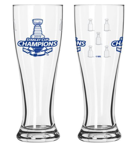Picture of St. Louis Blues Boelter 2019 Stanley Cup Final Champions 16 oz. Satin Etch Pilsner Glass
