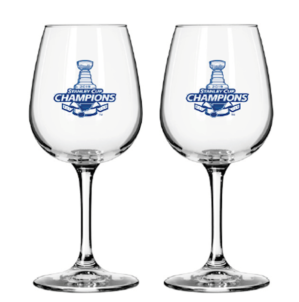 Picture of 2019 Stanley Cup Champs St Louis Blues NHL Satin Etch Wine Glass 12oz