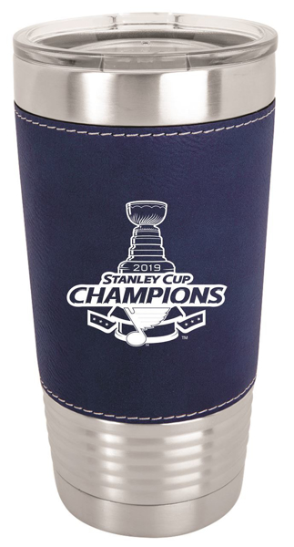 Picture of St. Louis Blues 20oz Stanley Cup Champions Leather Tumbler