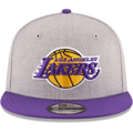 Picture of Men's Los Angeles Lakers New Era Heathered Gray/Purple Two-Tone 9FIFTY Snapback Adjustable Ha