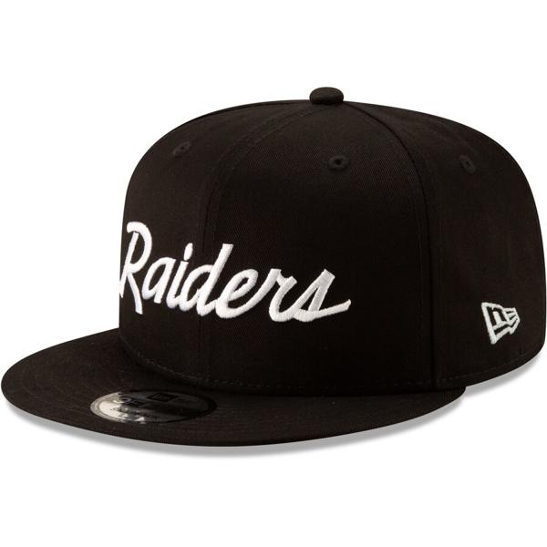 Picture of Las Vegas Raiders New Era Throwback 9FIFTY Adjustable Snapback Hat - Black