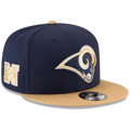 Picture of New Era Los Angeles Rams Baycik 9FIFTY Snapback Adjustable Hat - Navy Blue/Gold