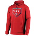 Picture of St. Louis Cardinals Majestic 2019 Postseason Dugout Authentic Pullover Hoodie - Red