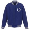 Men's JH Design Royal Indianapolis Colts Wool Reversible Full-Snap Jacket
