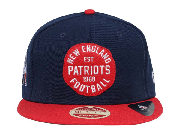 New England Patriots NFL Double Patched Snap Blue Red 9FIFTY Cap