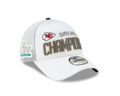 Picture of Men's Kansas City Chiefs New Era White Super Bowl LIV Champions Locker Room 9FORTY Adjustable Hat