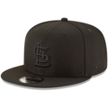 Men's St. Louis Cardinals New Era Black on Black Basic 59FIFTY Fitted Hat