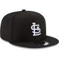 Picture of St. Louis Cardinals New Era League Basic 59FIFTY Fitted Hat - Black with White Logo